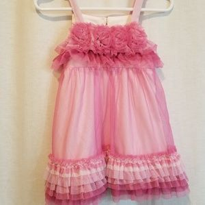 Girls Isabella and chloe rosettes and tulle dress